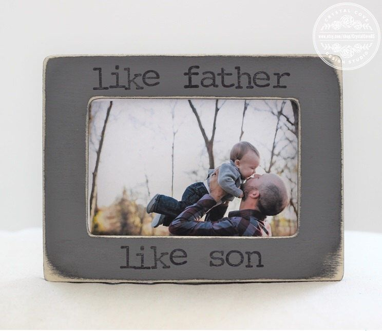 Gift For Dad Gift From Son Father Son Personalized Picture Frame