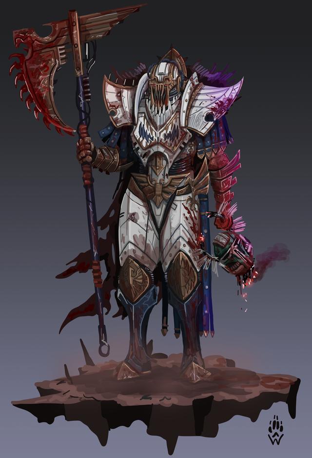 Dornian Heresy - Angron kills the traitor Lion El'