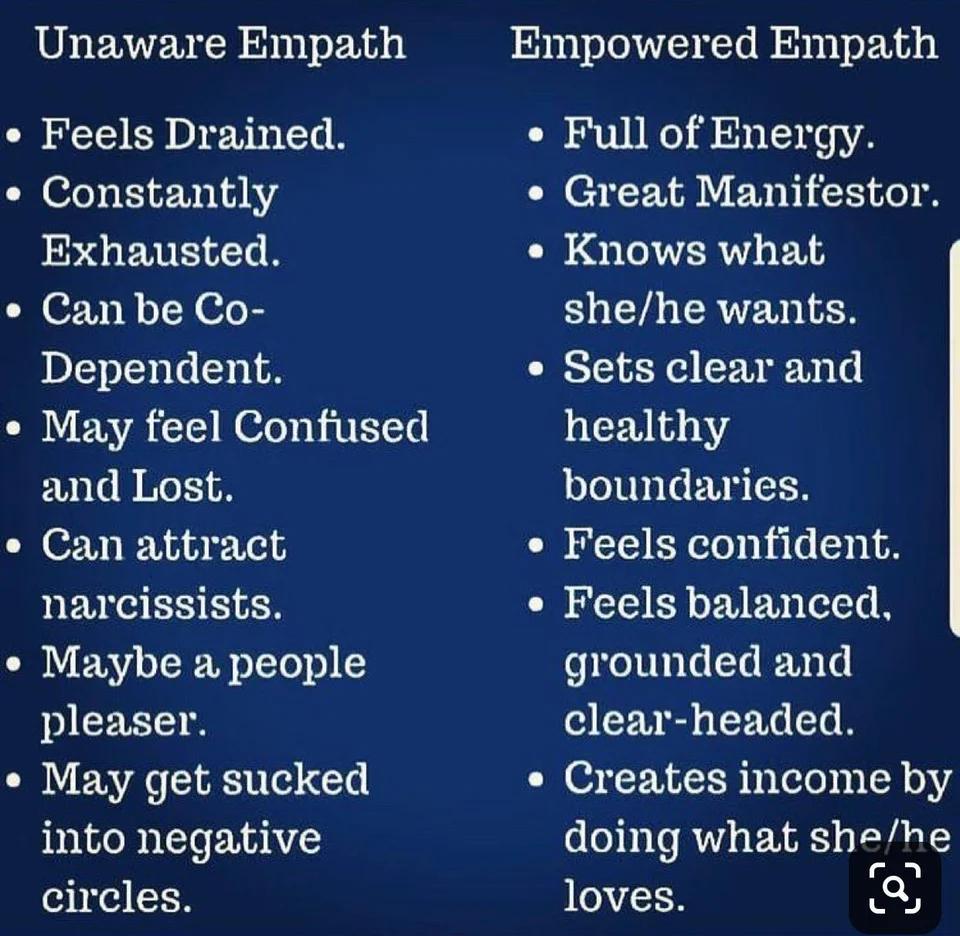 Unaware empaths versus empowered empaths