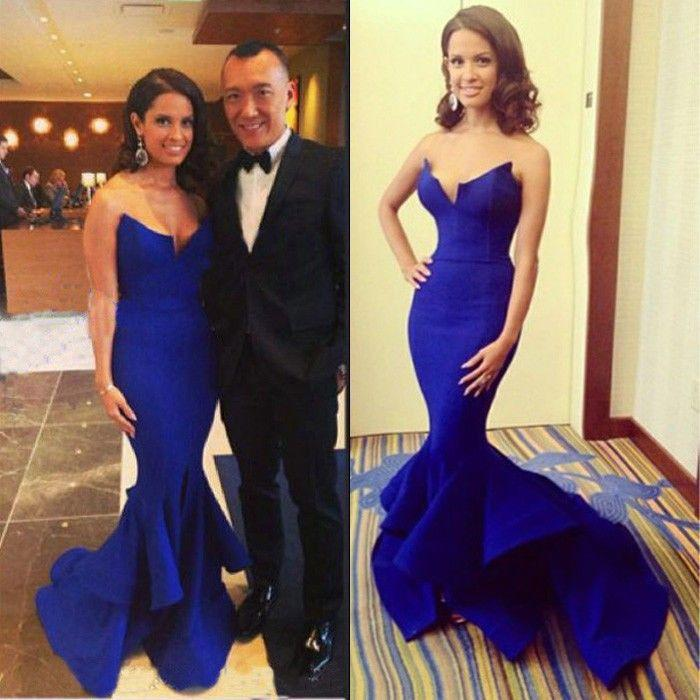 Beautiful Royal Blue Sexy Mermaid Long Prom Dress, WG571