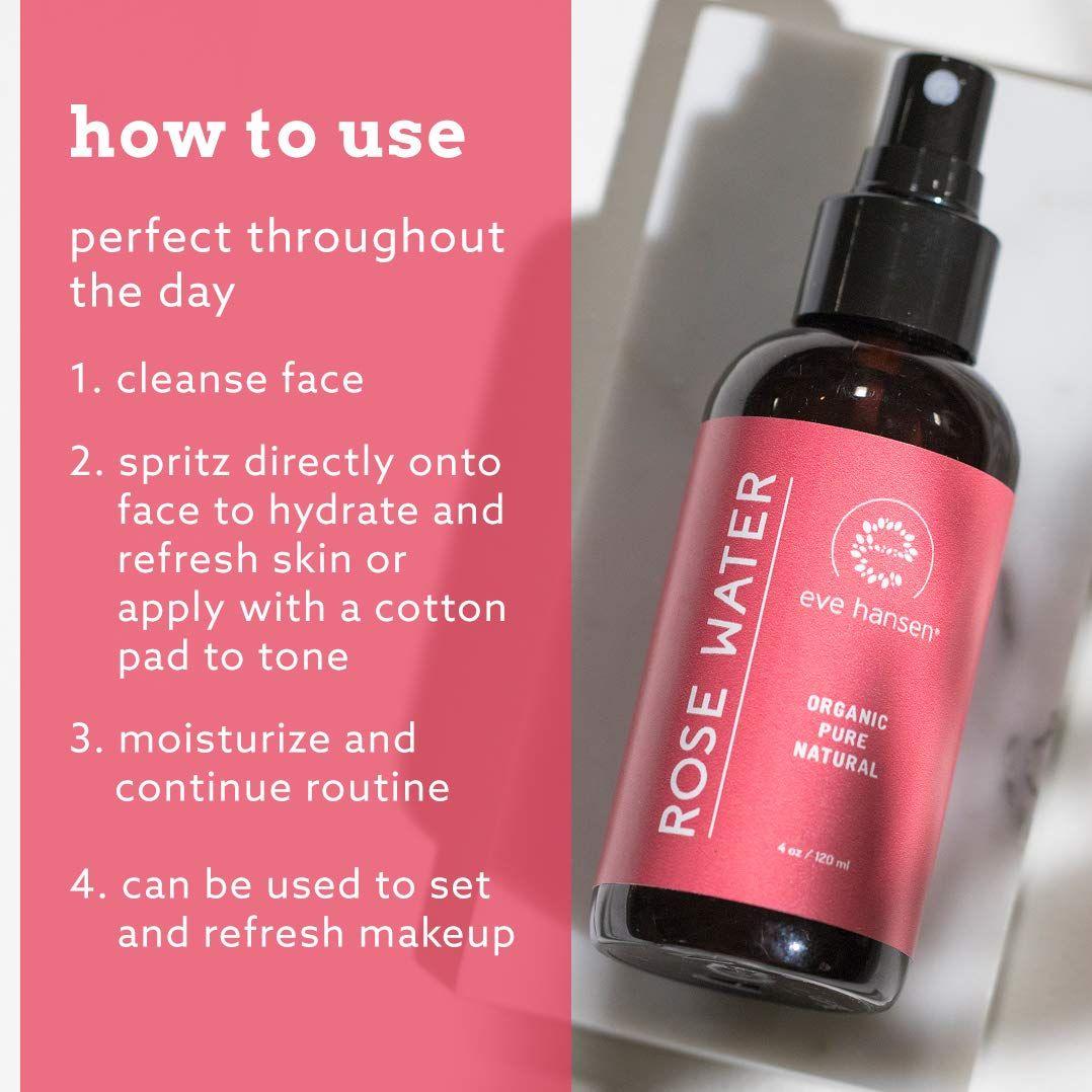 Eve Hansen Certified Organic Rose Water Facial Spray