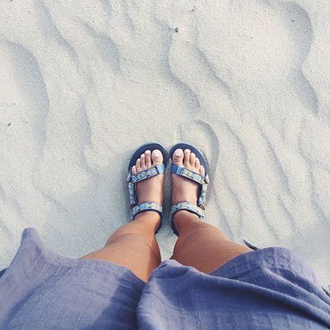 Swept away on seaside travels. (: @evemeetswest) #TevaUpgrade