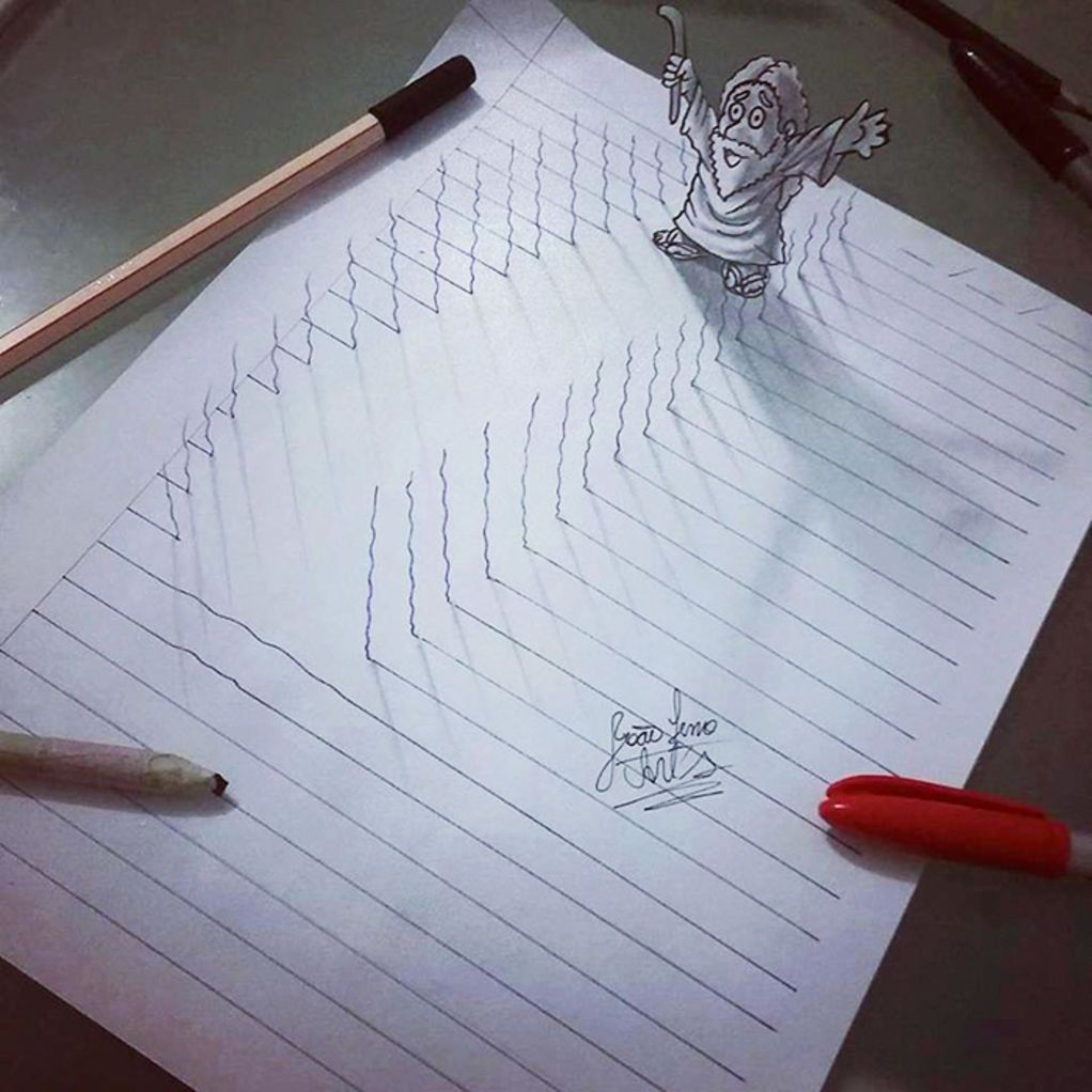 Artist Creates Amazing D Sketches That Leap From The Paper They - Artist creates amazing 3d sketches that leap from the paper theyre drawn on