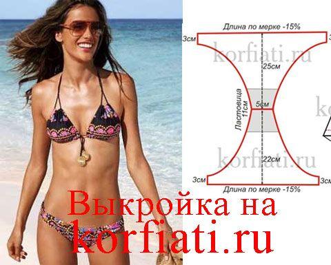 Выкройка купальника от Анастасии Корфиати | Schnittmuster