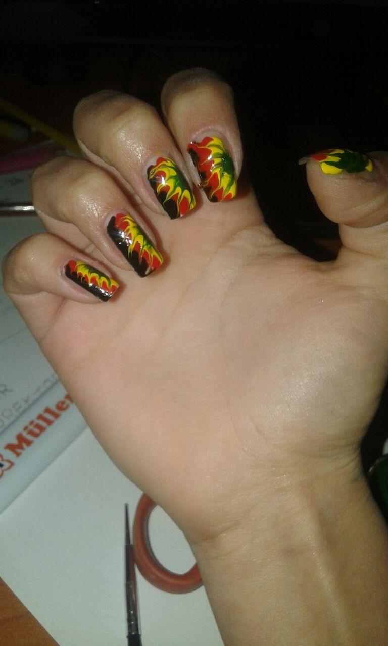 Rasta nails - design   Nails   Pinterest   Rasta nails and Jamaica nails