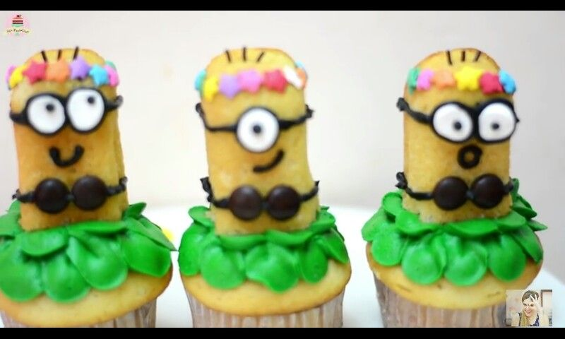 Como hacer cupcakes de minions en youtube @mis_pastelitos