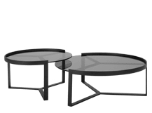 Aula Nesting Coffee Tables Black And Grey Made Coffee Table
