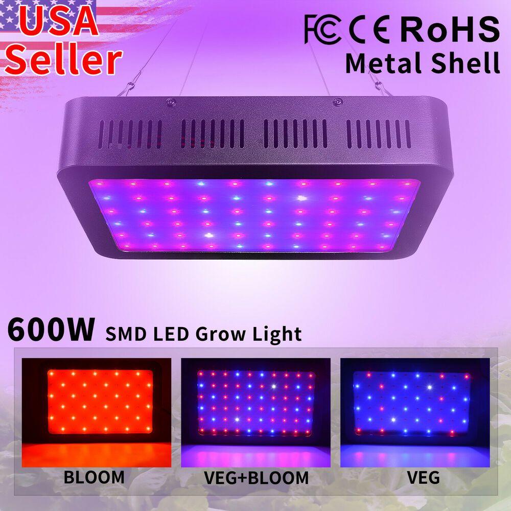 Led Grow Lights 1000w Full Spectrum Hydroponics Plant Light Veg Bloom Indoor Ebay In 2020 Led Grow Lights Led Grow Grow Lights