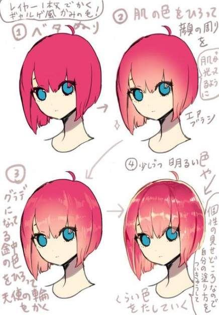 Drawing Lips Manga Hair Tutorials 26 Ideas Drawing Hair Tutorial Manga Drawing Art Reference