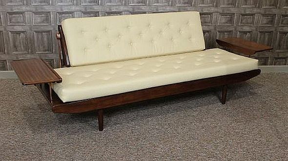 This Vintage Sofa Bed By Greaves And Thomas Is A Magnificent Piece Of Clic 1960s Teak Furniture Recovered In Cream Leatherette Material Blendi