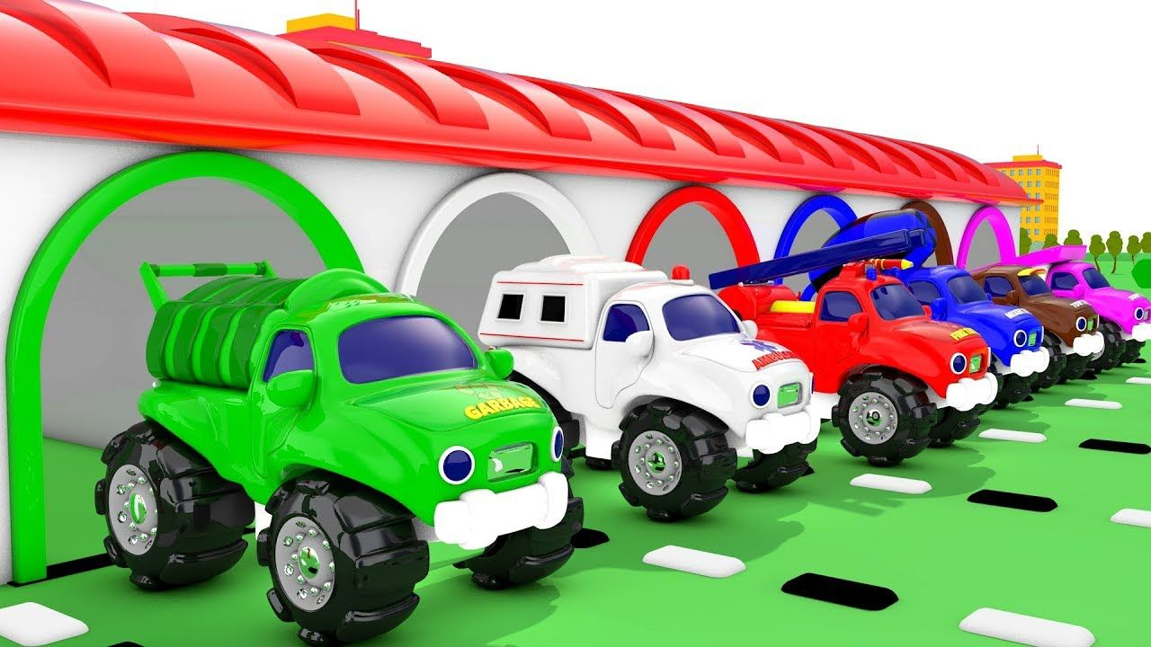 Educational car toys  Learn Colors for Children with Street Vehicle Trucks Parking Garage