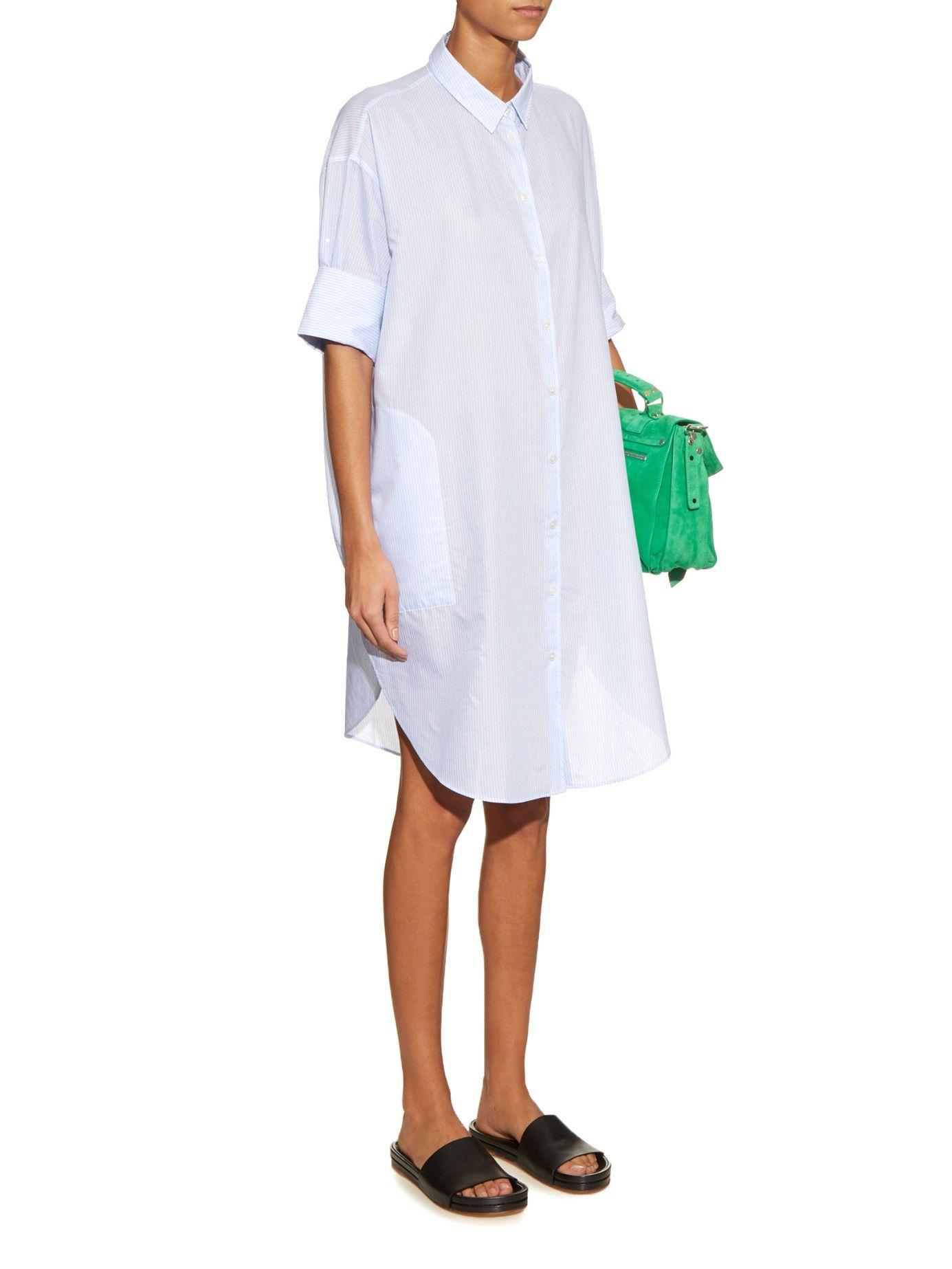 Lash pinstriped cotton shirtdress | Acne Studios | MATCHESFASHION.COM
