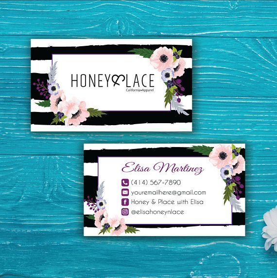 Honey and Lace Business Card Agnes and Dora Punch Card