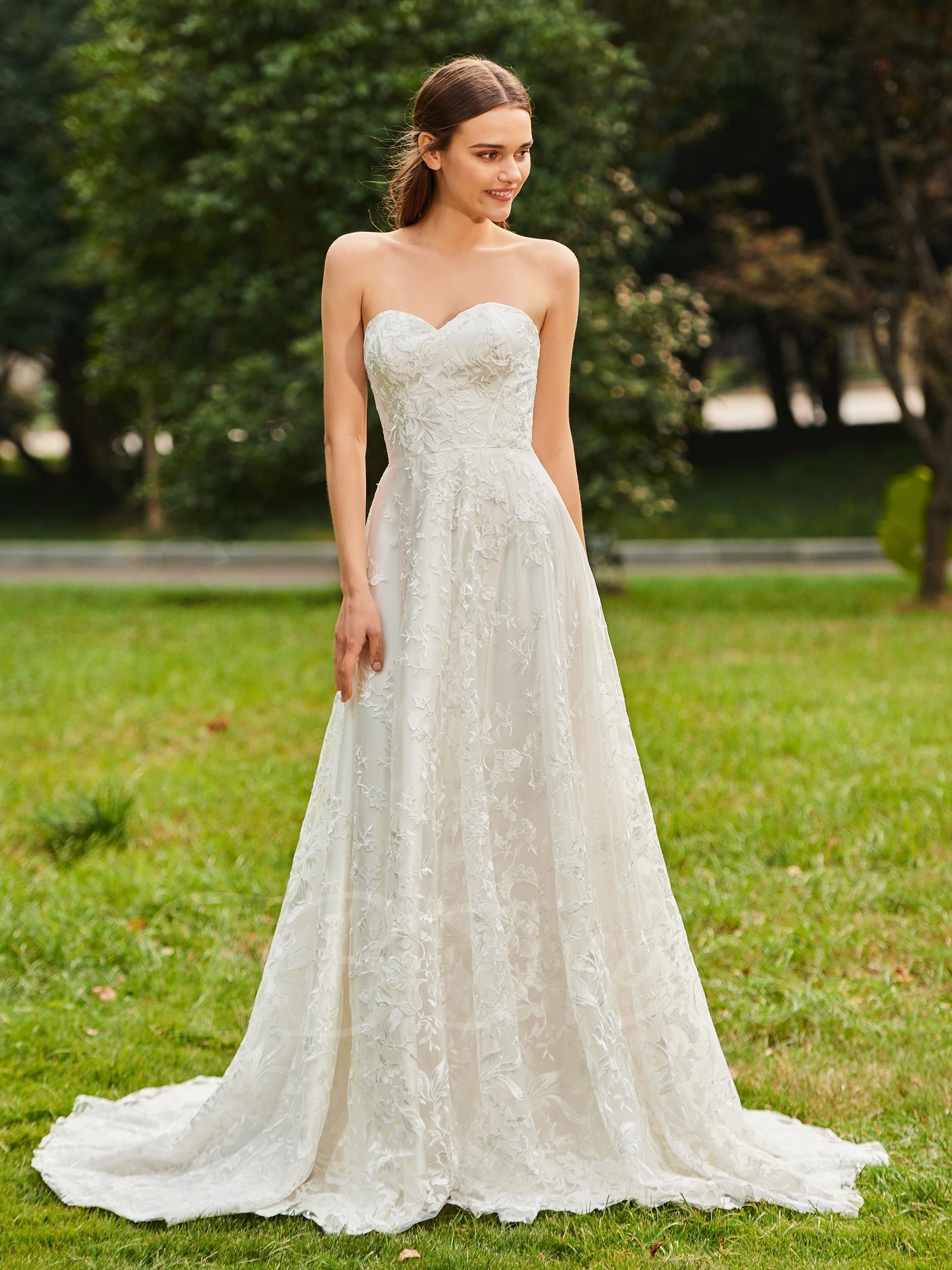 Sweetheart aline lace wedding dress with jacket dream wedding