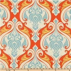 "Waverly Sun N Shade Sea Scallop Coral Reef - 100% Polyester, Horizontal repeat: 13.5, vertical repeat: 19, width: 58"", manufacturer: Waverly collection: waverly sun N shade; 21.98/yd (wash w/ mild soap/cold water)"