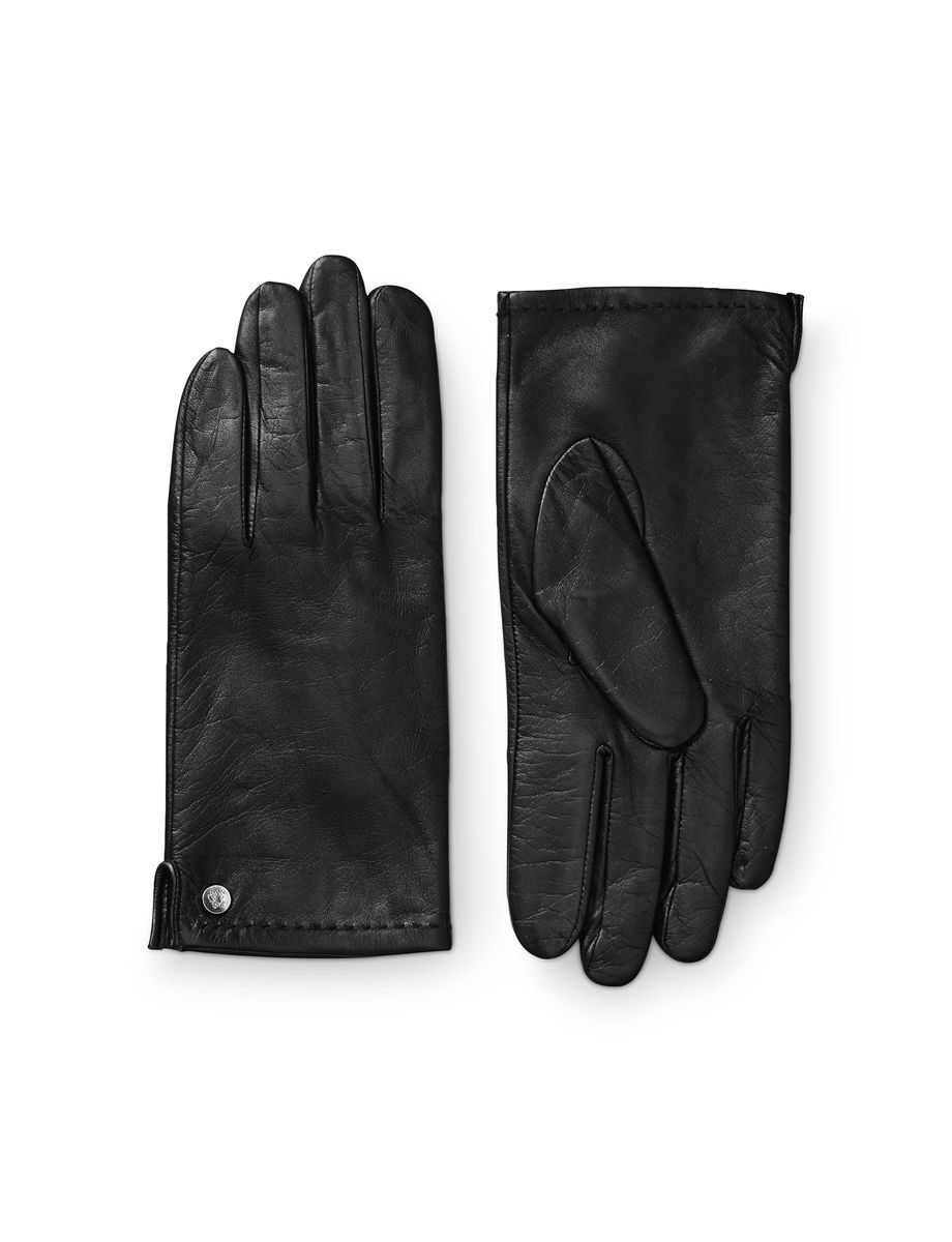 Tiger leather driving gloves - Niorelo Gloves Women S Glove In Leather Nappa Features Split At Side And Metal Stud