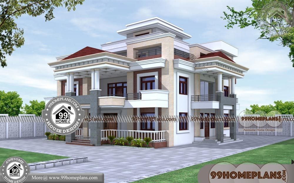 New Home Design Plans With 3 Story New Contemporary House Designs In Kerala Having 3 Floor 7 Architectural House Plans House Design Photos Kerala House Design