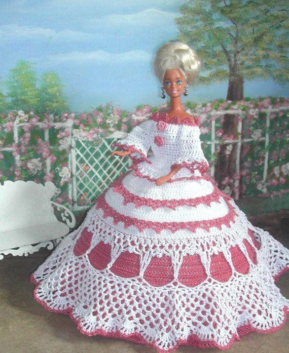 1) Mode - 526 ROSE HÄKELSPITZE für 11 1/2 Fashion Dolls wie Barbie ...