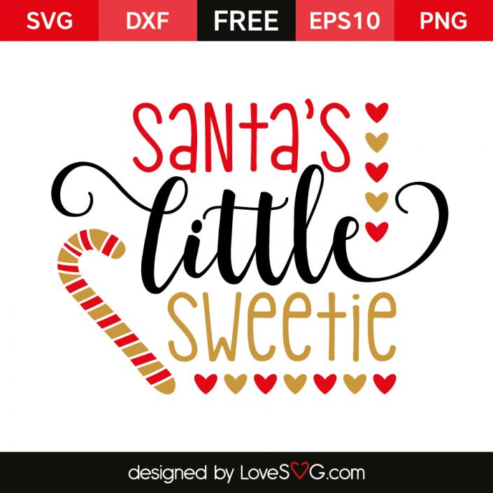 Santa's little Sweetie Christmas svg, Christmas vinyl