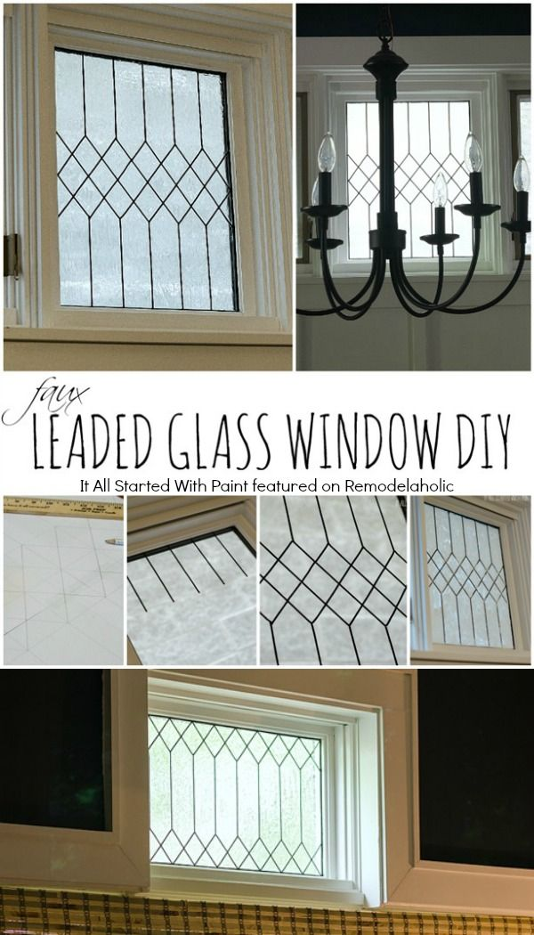 How To Diy Faux Leaded Glass Window It All Started With Paint On