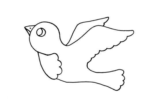 Dibujo para colorear Pájaro | Libro sensorial | Pinterest | Colorear ...