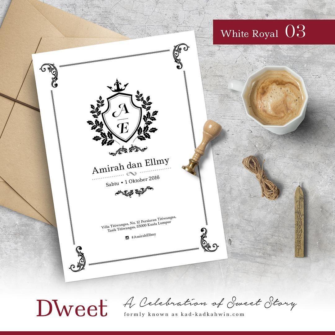 White Royal 03 New Collection White Royal Khas Untuk Mereka Yang Menyukai Design Simple Tetapi Invitations White My Wedding Day Kad Kahwin