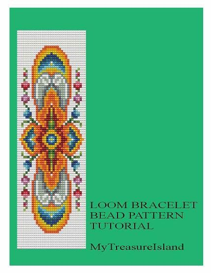 For sale is Bead Loom Vintage Motif 7 Bracelet Pattern in PDF format.    For this design I used Miyuki Delica seed beads in size 11. By using