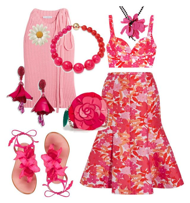 """""""pink and red"""" by teresalovespink ❤ liked on Polyvore featuring Michael Kors, J.W. Anderson, Kate Spade, Oscar de la Renta, Lanvin, Aquazzura and Trina Turk"""