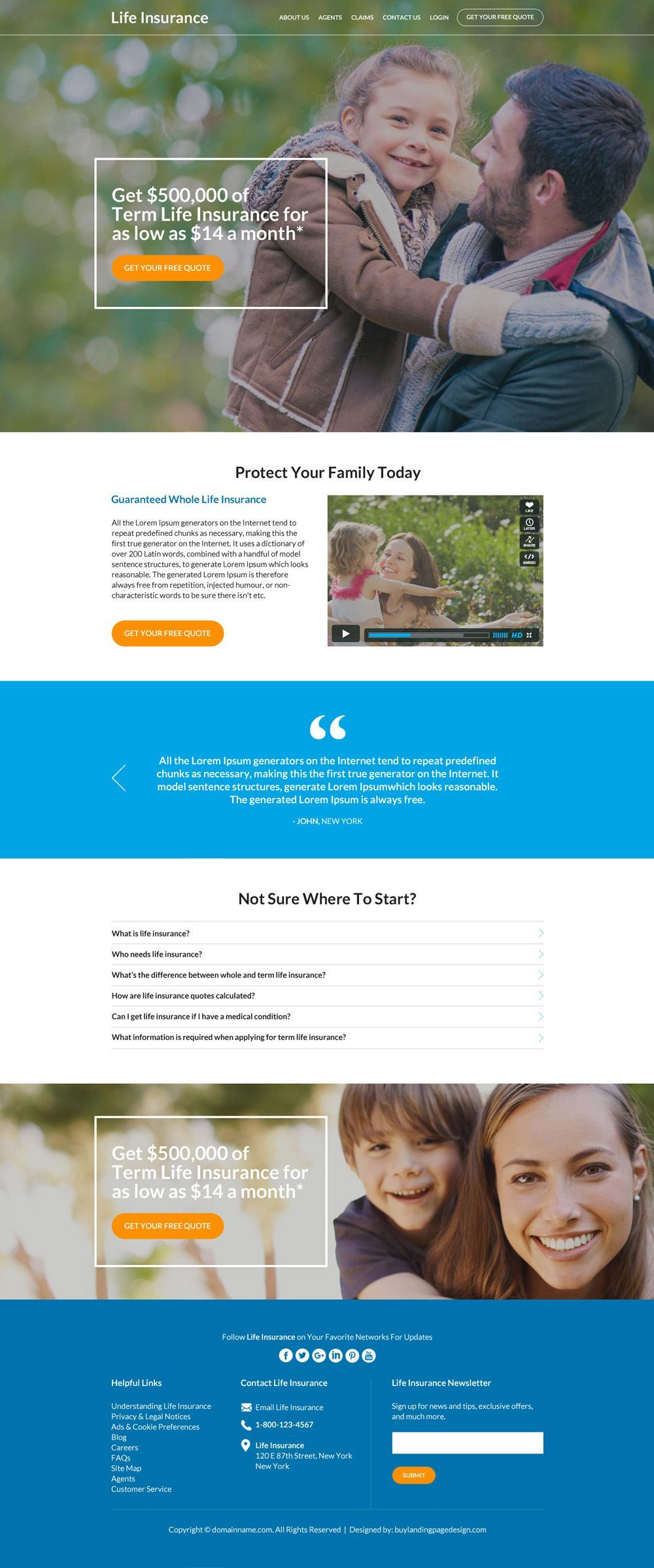 Life Insurance Website Design Templates To Boost Conversions
