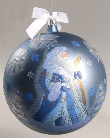 Waterford Holiday Heirloom Ornaments Winter Wonderland Santa Ball - Boxed