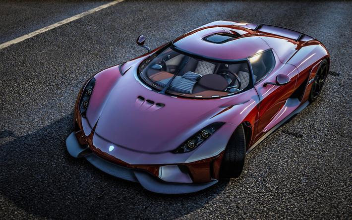 Download wallpapers GTA 5, Koenigsegg Regera, Grand Theft