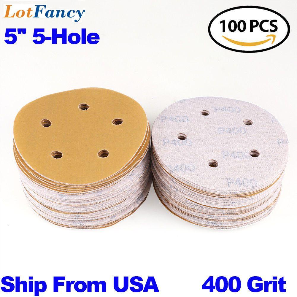 Sander Parts And Accessories 20796 5 Inch 400 Grit Sanding Discs Orbital Sander Round Sandpaper Hook Loop Sheet Pad Buy It Now On Hook Loop Sanding Sanders