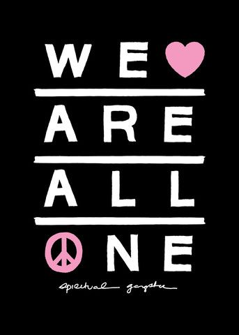 We Are All One Vinyl Decal | Yoga Sticker | Black | Spiritual Gangster