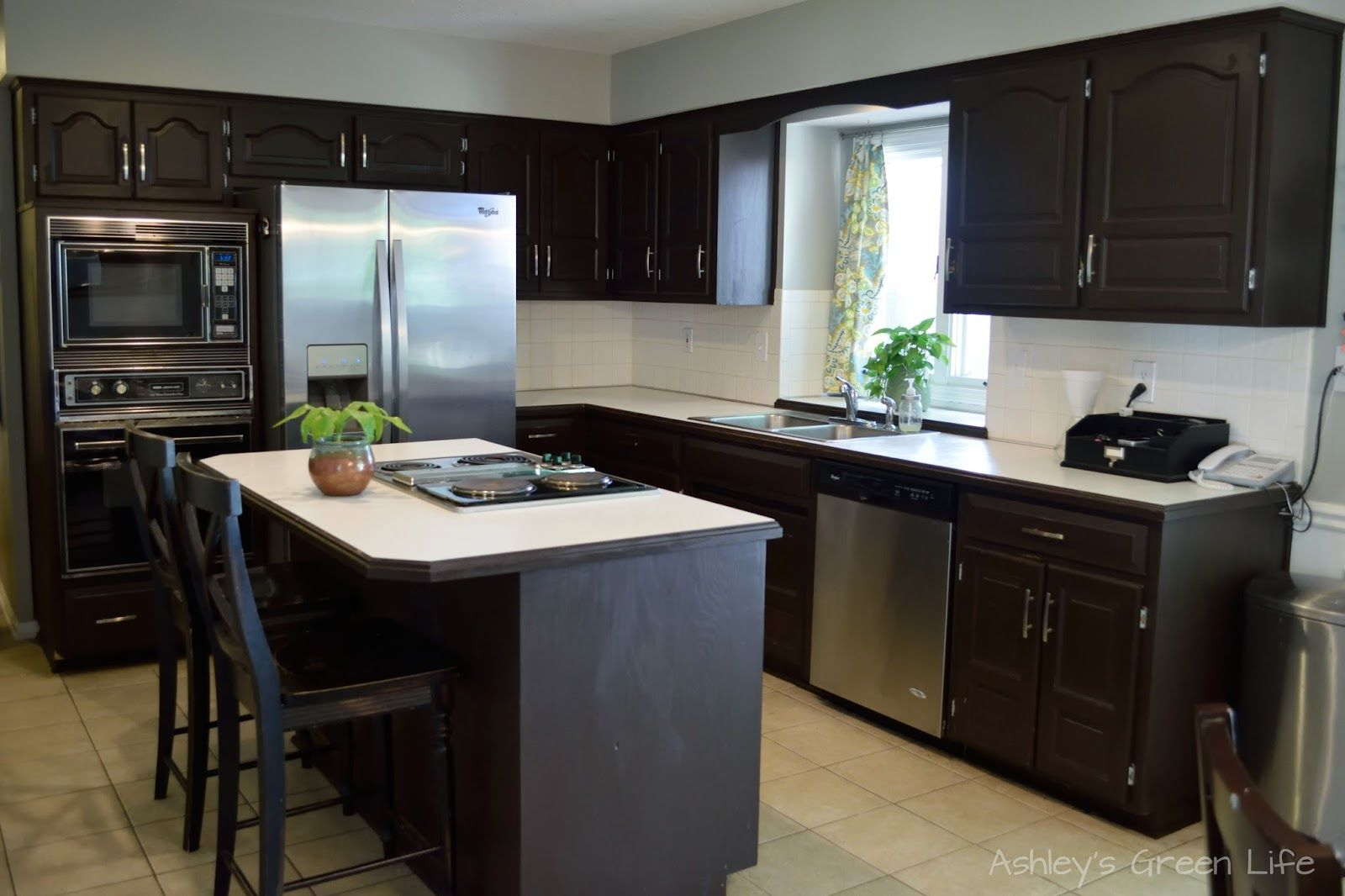 Two Years Ago I Transformed My Kitchen Cabinets From A Dated Oaky Color To A Modern Dark Espresso Color And Although Kitchen Cabinets Update Cabinets Kitchen