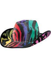 212bcd151 Rainbow Zebra Cowboy Hat | FUN PARTY TIME | Cowboy hats, Hats ...