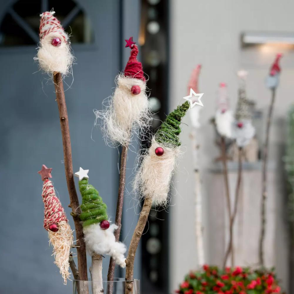 Weihnachtswichtel am Stecken