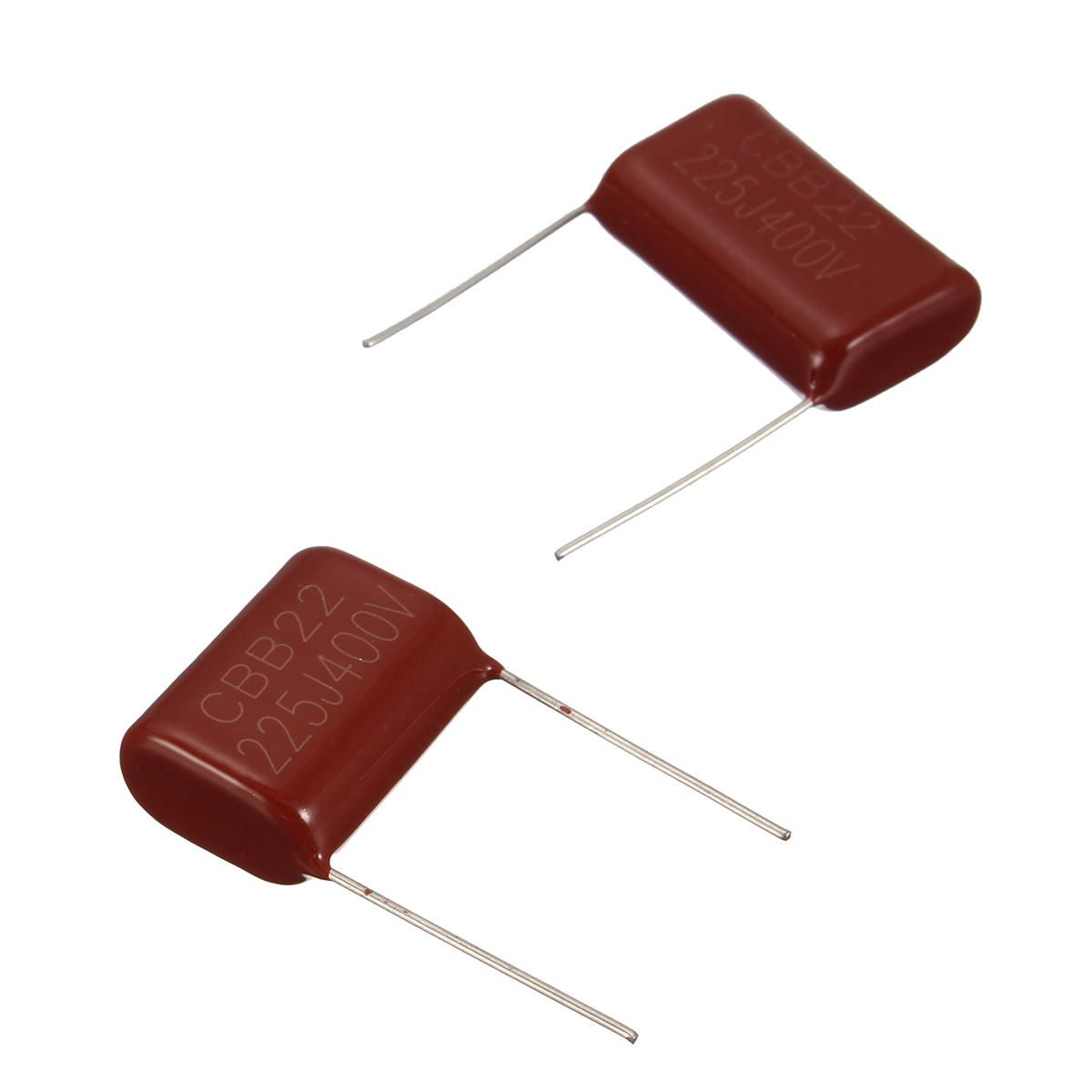 10pcs 400v225j 2 2uf Pitch 25mm 225j400v 225j 400v 2200pf Cbb Polypropylene Film Capacitor Shiny Wire Terminals Connectors Tools And Accessories