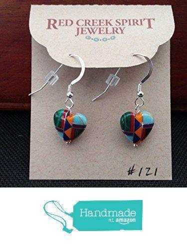 Zuni Indian Inlay Heart Earrings from Red Creek Spirit Jewelry http://www.amazon.com/dp/B016B34L7M/ref=hnd_sw_r_pi_dp_LwBgwb1GEZC50 #handmadeatamazon