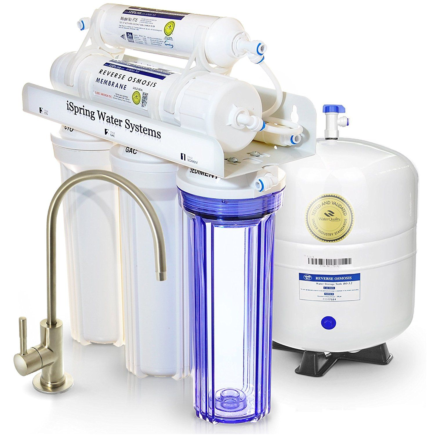 Ispring Rcc7 Under Sink Ro Water Filtration System Review Best Water Filter Reviews Countertop Water Filter Sink Water Filter Under Sink Water Filter