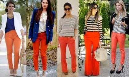 calça laranja como usar