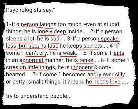 Try to understand people