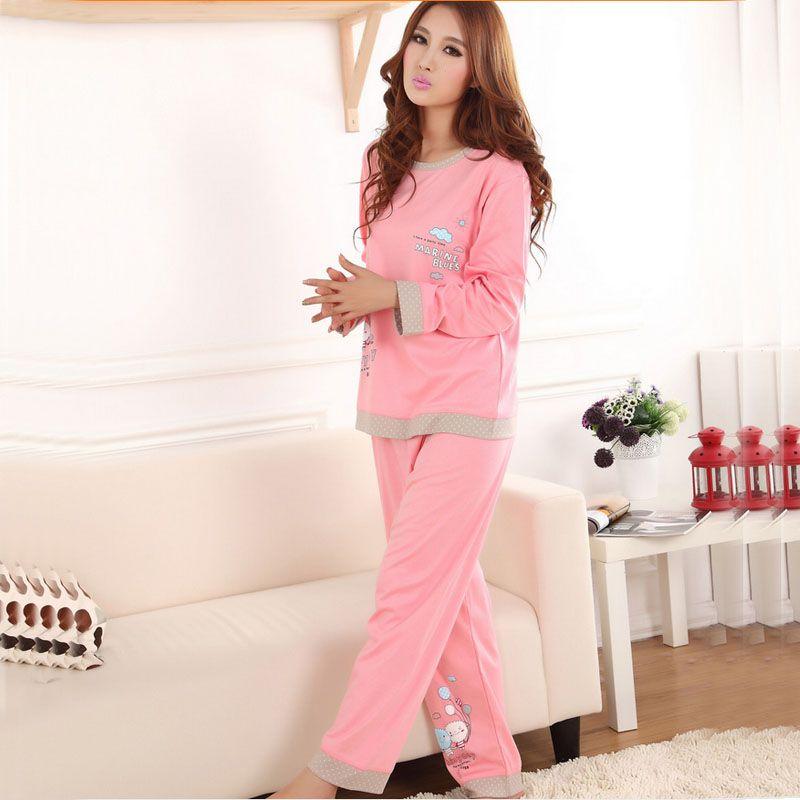 XXXL Más Tamaño Engrosamiento de Algodón Feminino Pijama Pijamas ...