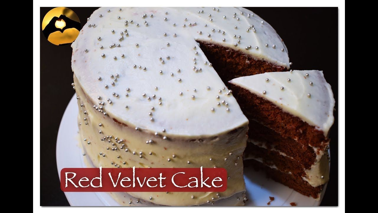 Eggless Natural Colour Red Velvet Cake Recipe In Hindi Ii Rasy