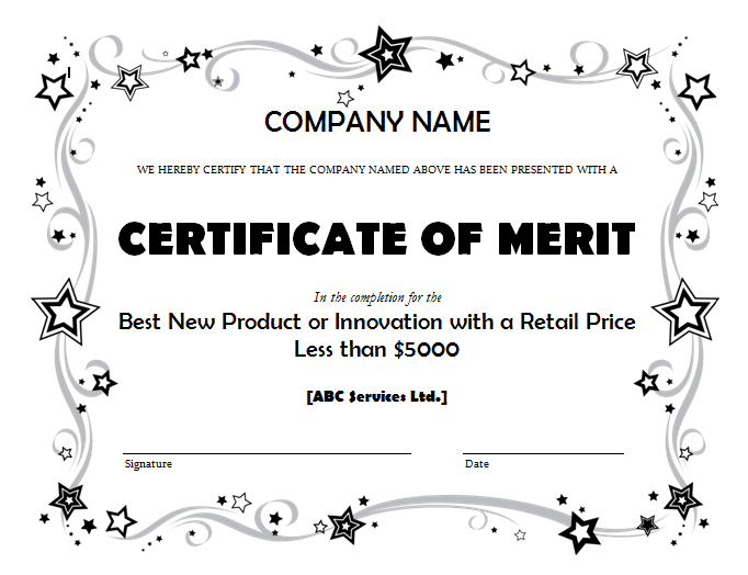 Get Merit Certificate Template Sample Pdf  Microsoft Office