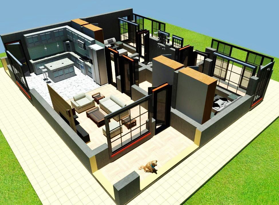 2 Bedroom House Plan For A Family In Kenya Muthurwa Com 2 Bedroom House Design 2 Bedroom House Plans Bedroom House Plans