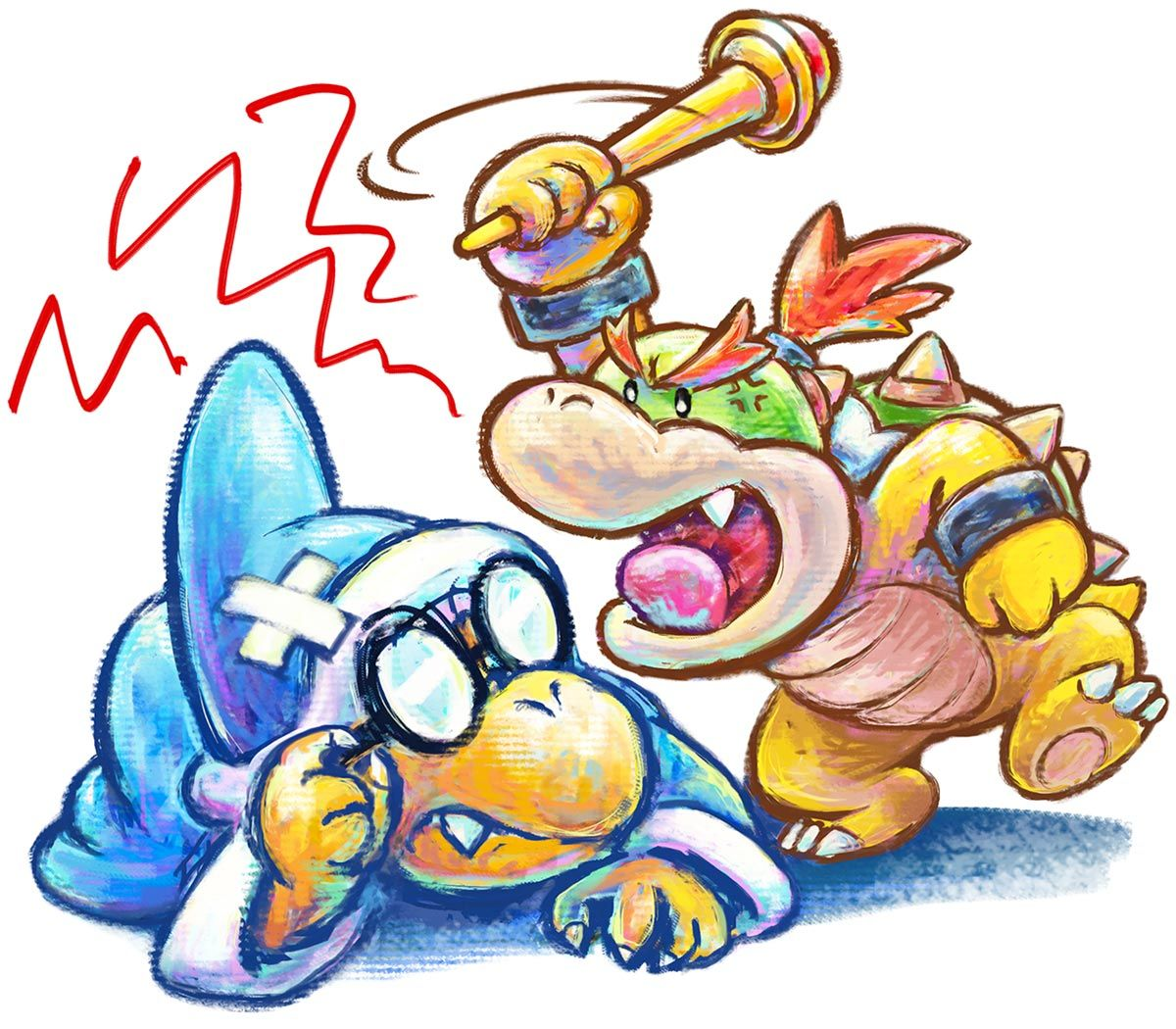 Kamek Baby Bowser Character Concept Art From Yoshi S New
