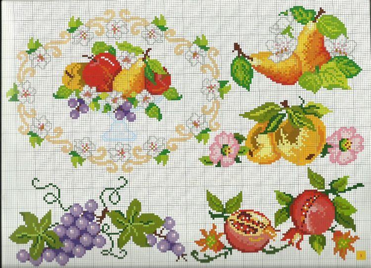 Conosciuto Gallery.ru / Фото #1 - Frutta e verdura a punto croce - Mosca  ZX75