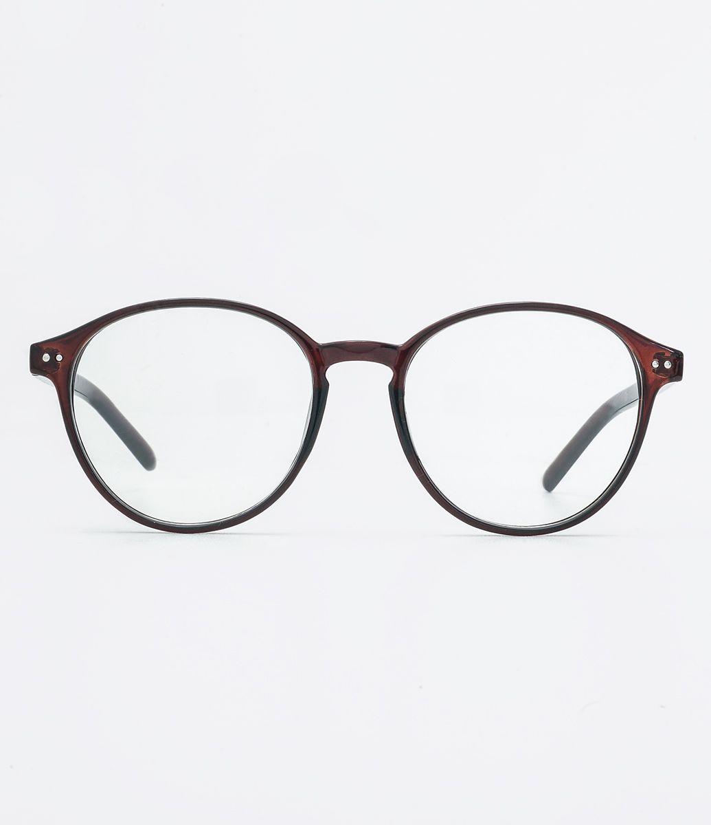 befe19b2216c1 Armação de óculos Modelo redondo Hastes em acetato Não acompanha lentes  Acompanha um estojo de tecido