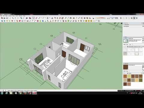Tutorial Sketchup 2016 Create Modern House Model Small House Model Sketch Up Architecture Building Design