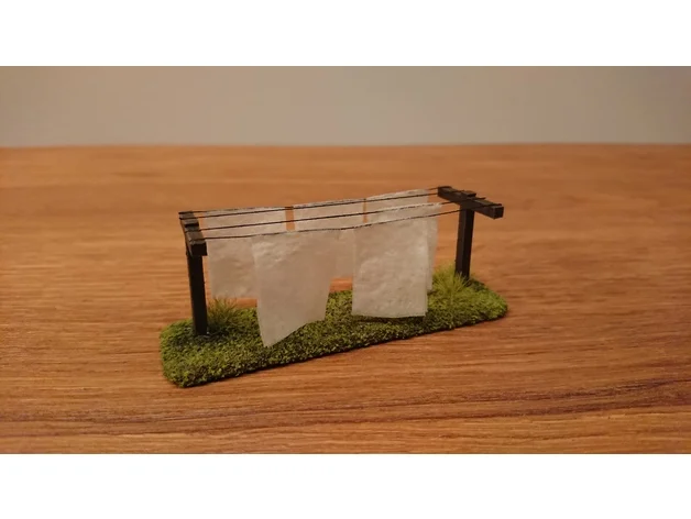 Clothesline - 28 mm wargaming terrain by flossi